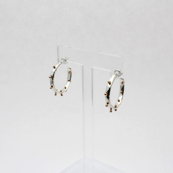 Small Two Tone Boss Babe Hoop Earrings