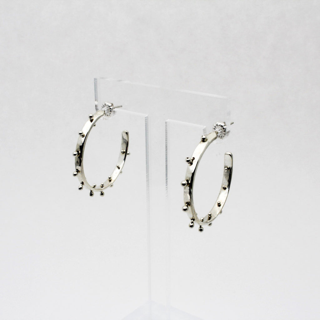 Small Silver Boss Babe Hoop Earrings