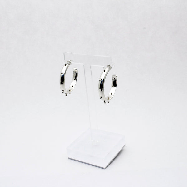 Bold Silver Boss Babe Hoop Earrings