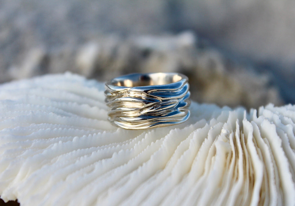 Coral Texture Band Ring