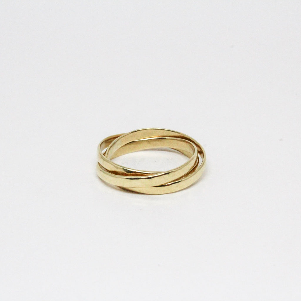 14k Yellow gold Trinity Rolling Rings