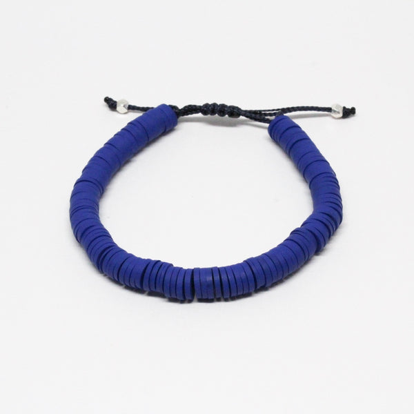 Blue Adjustable Vinyl Bracelet