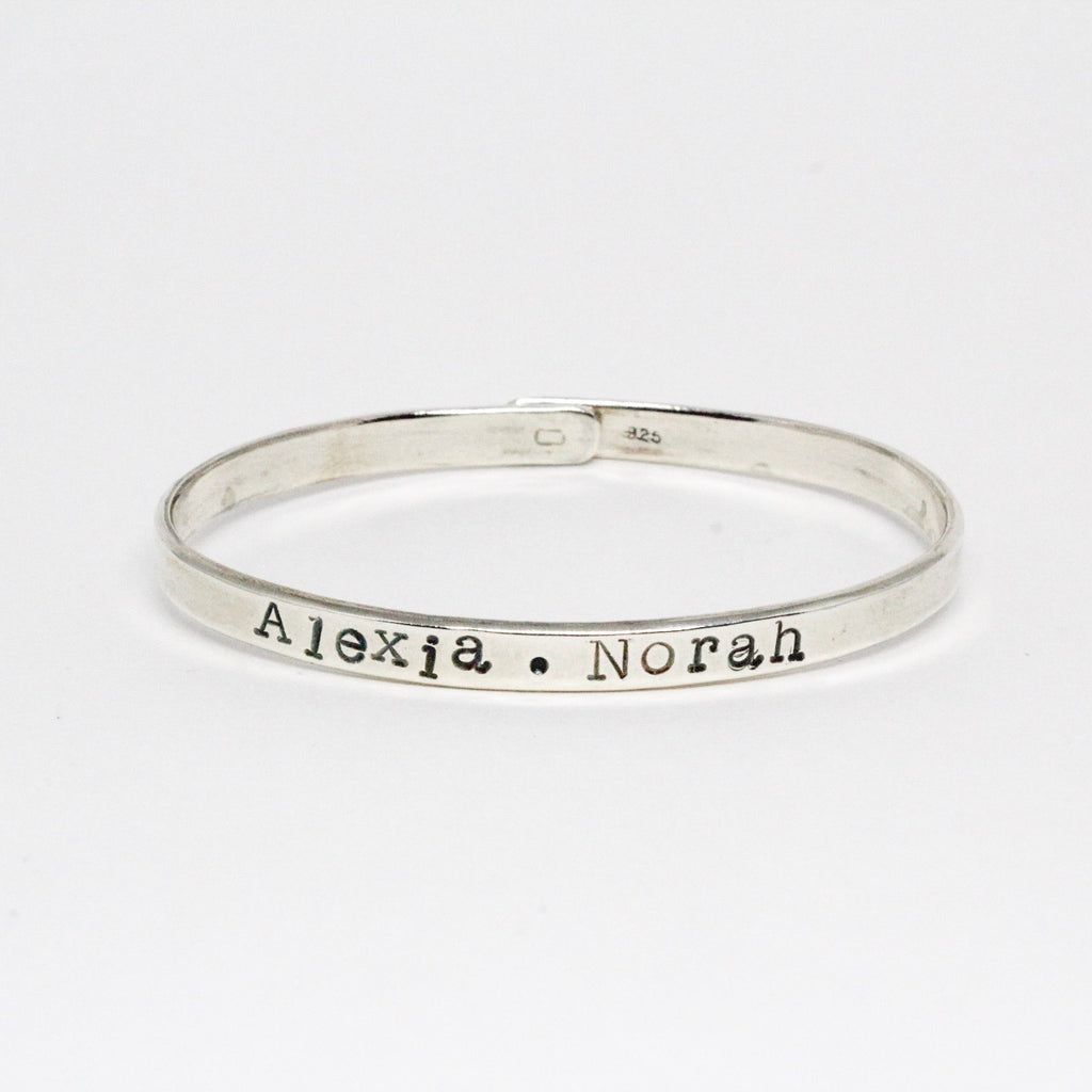 Customizable Name Bangle Bracelet