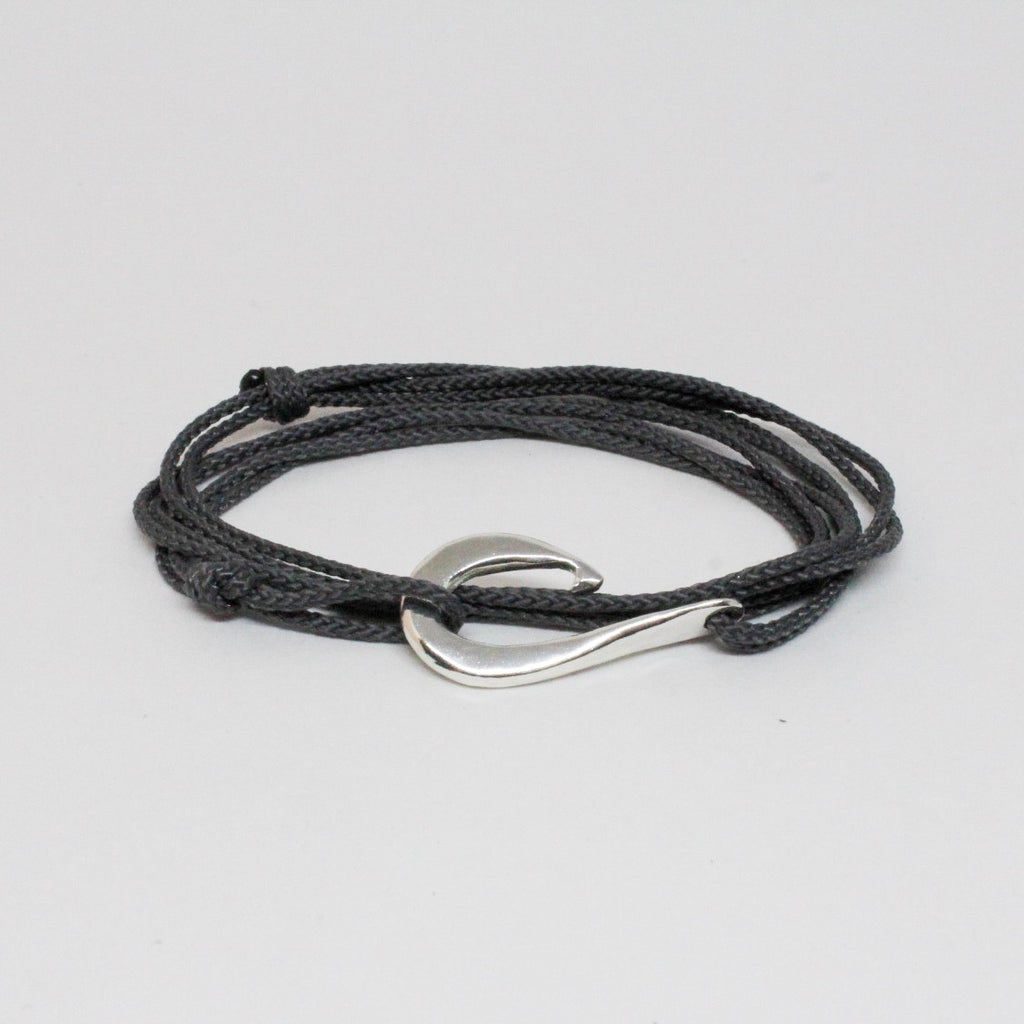 Sterling Silver Medium Hook Triple Wrap Bracelet