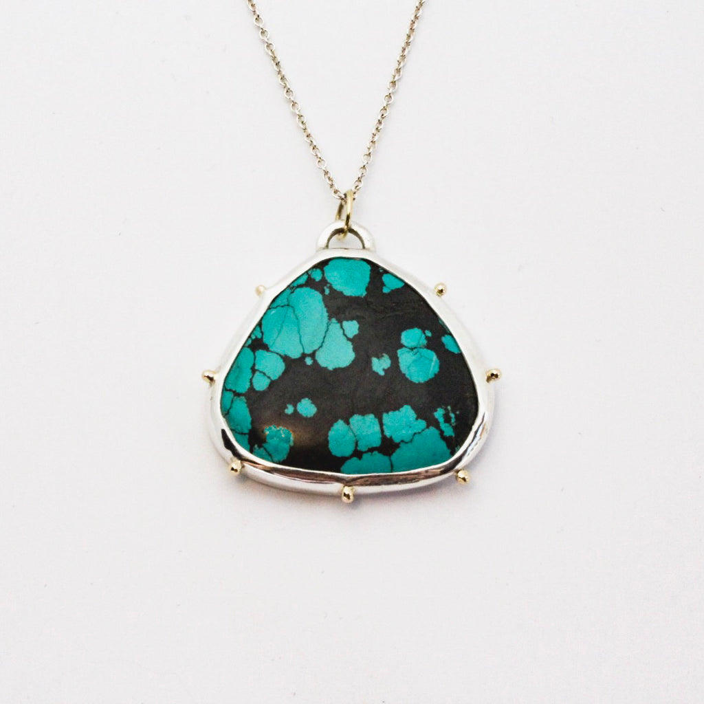 Large Turquoise Beach Bauble Pendant