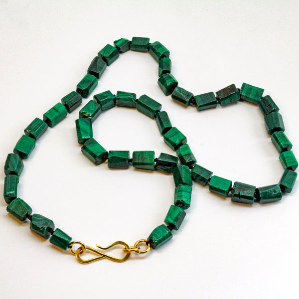 Malachite Infinity Hook Necklace