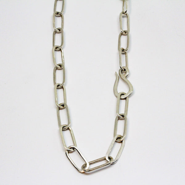Silver Paperclip Chain Necklace