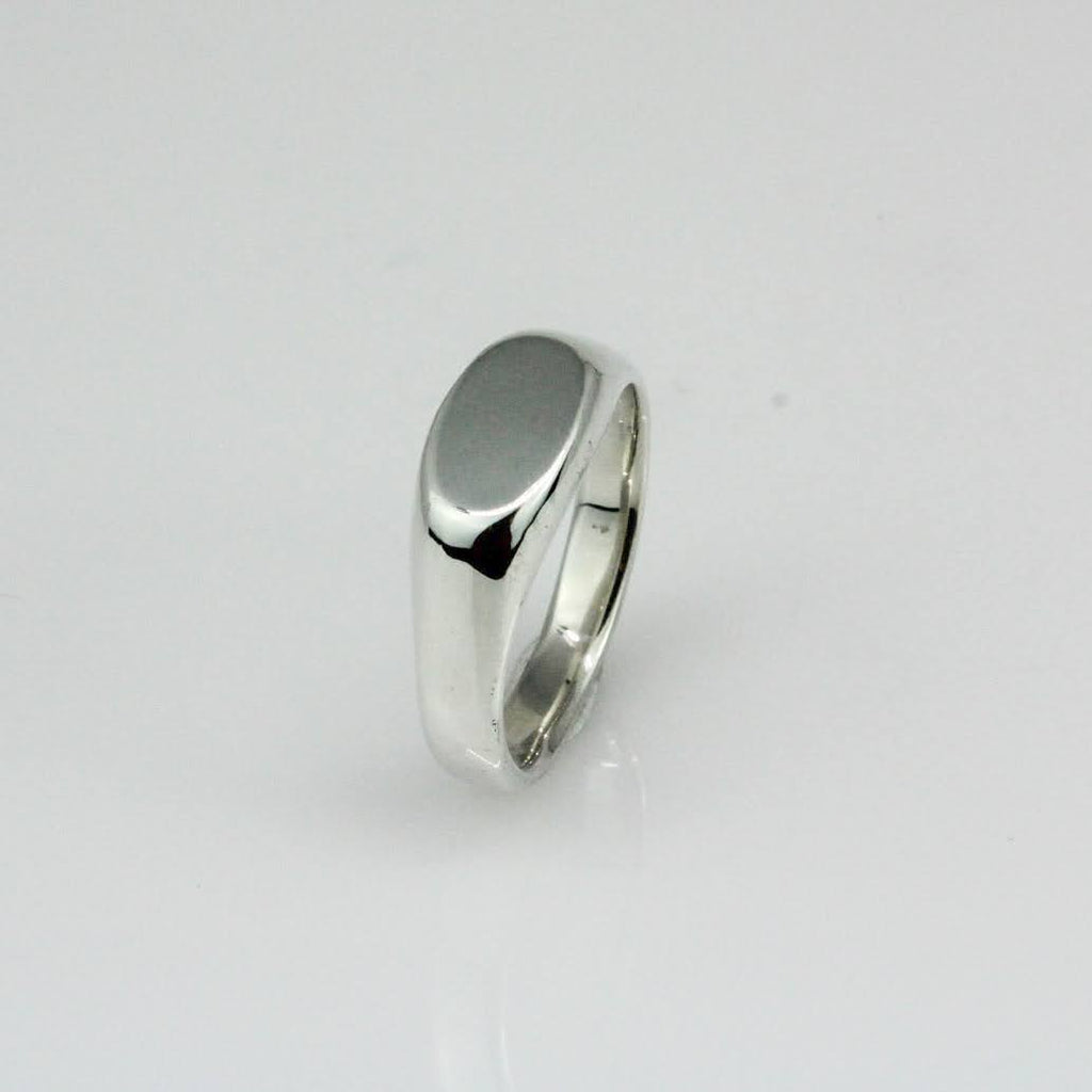 Narrow Oval Signet Ring