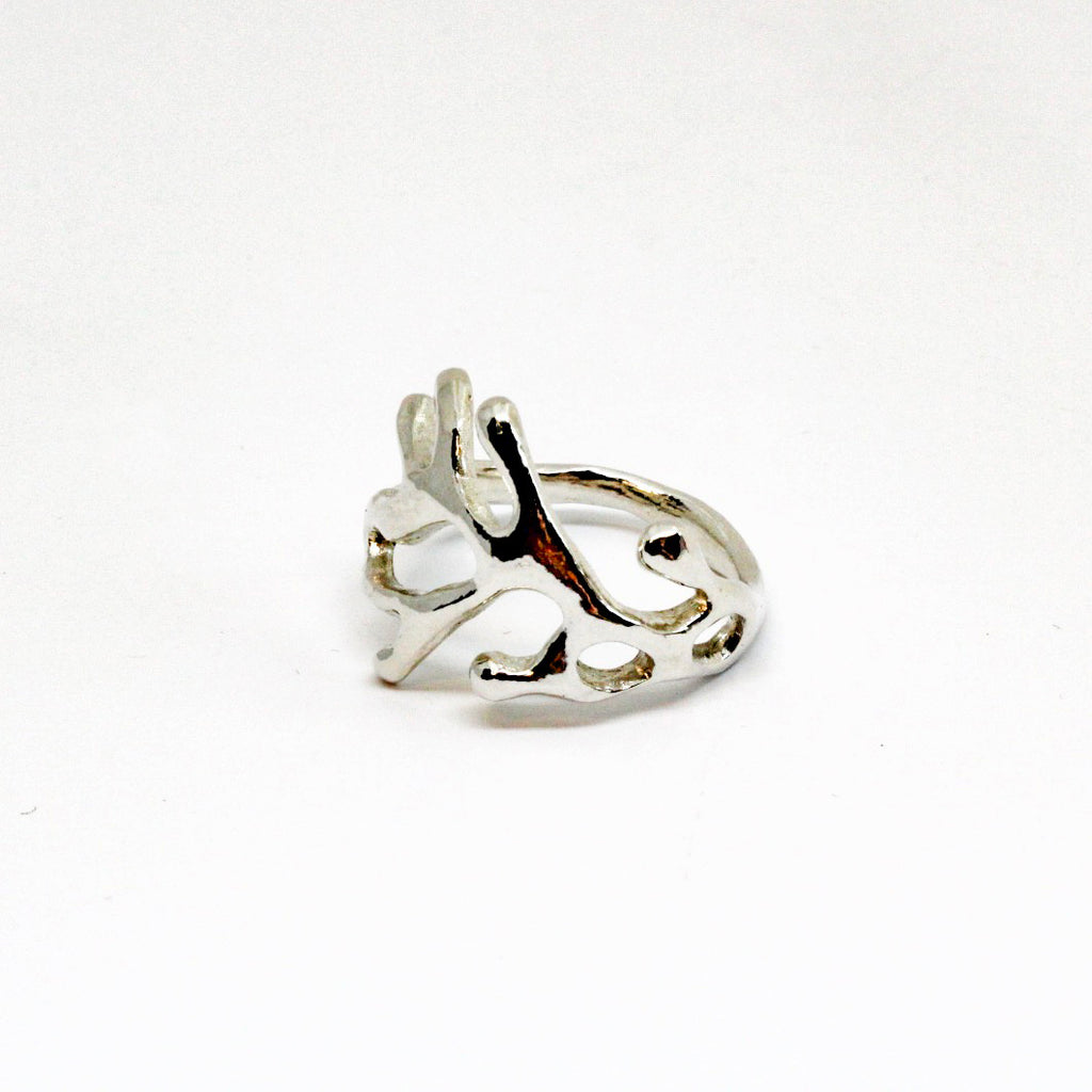 Coral Branch Wrap Ring