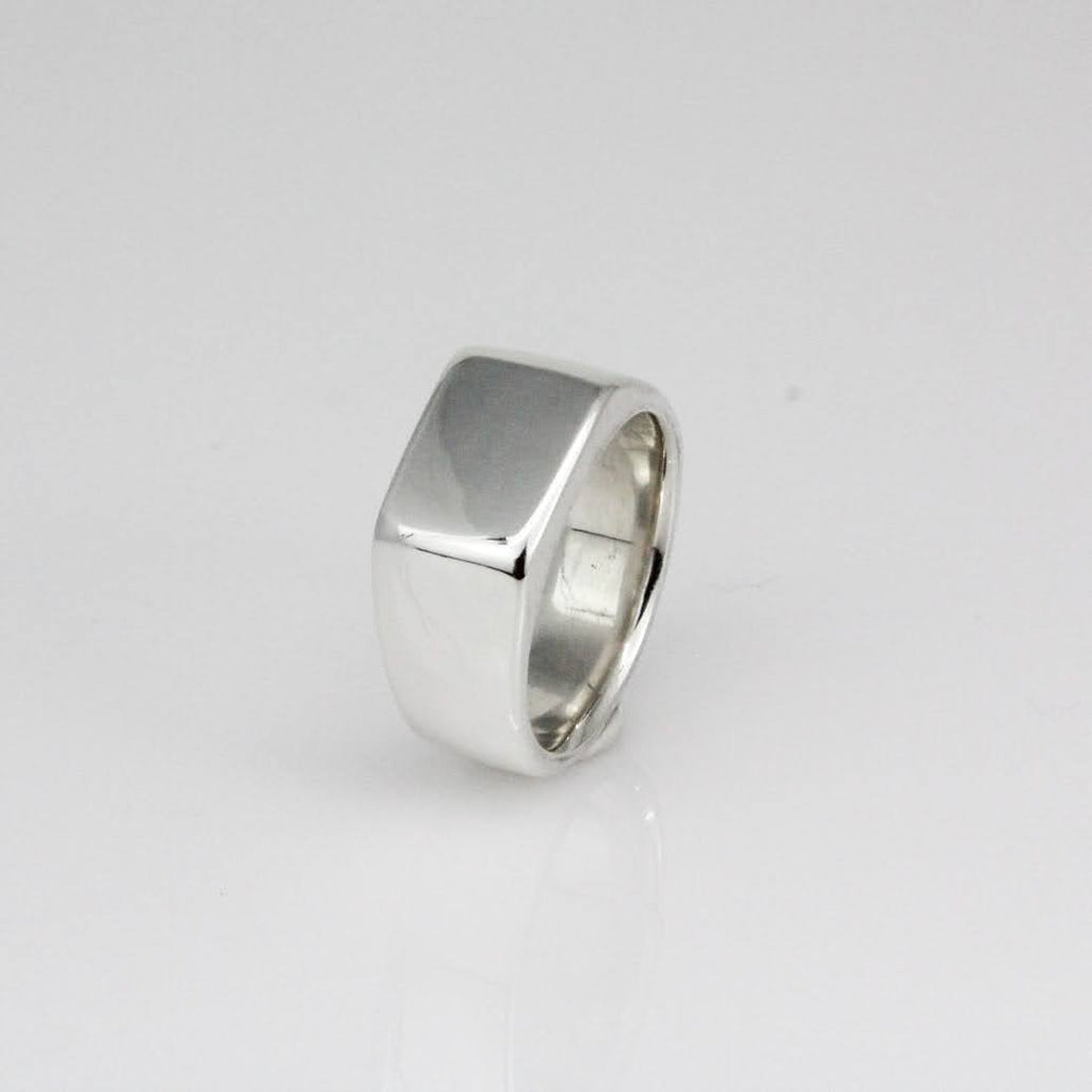 Wide Square Signet ring