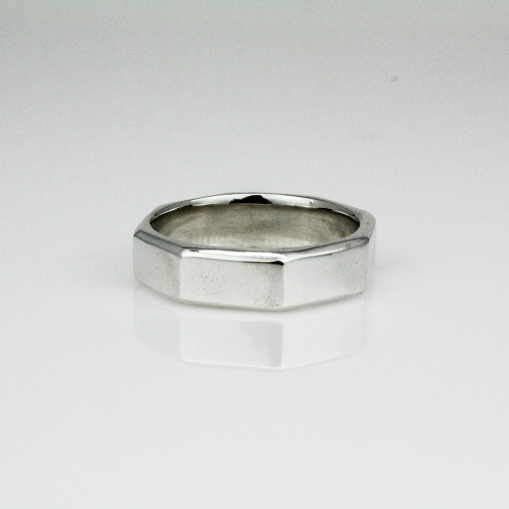 Narrow Octagon Ring