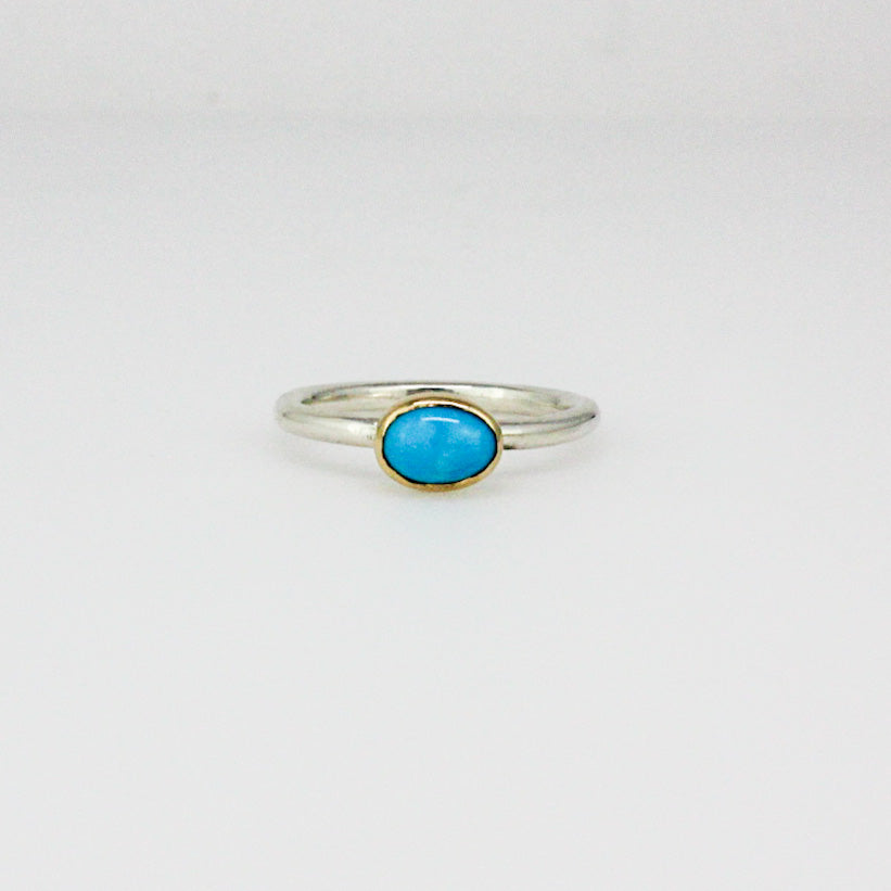 Sleeping Beauty Turquoise Stack Ring