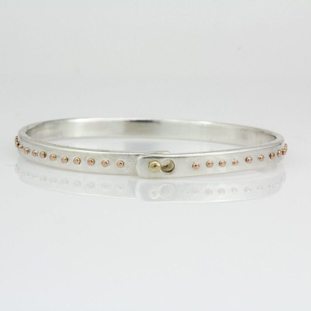 Silver and Rose Gold Beach Bangle 5.0