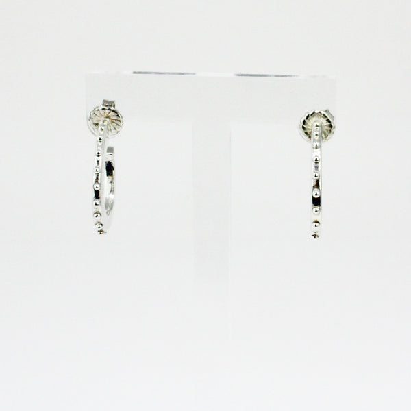 Skinny Stud Accent Hoops