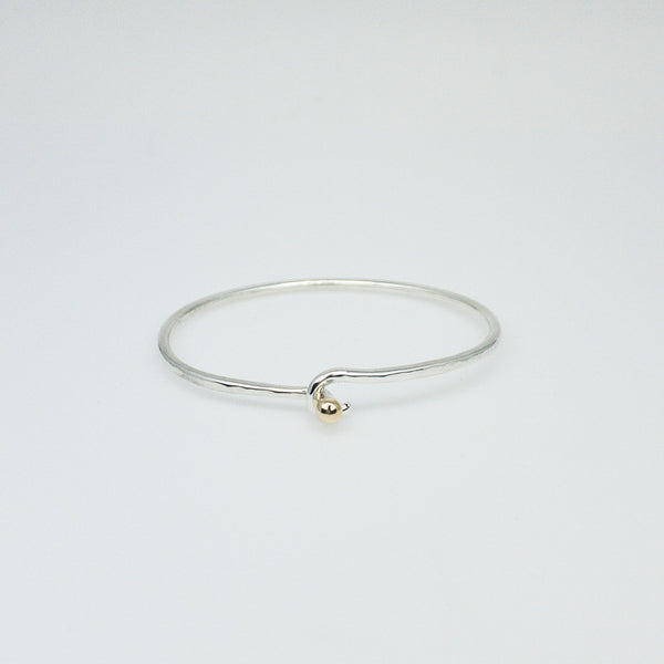 Mini Ball and Hook Bracelet- Sterling Silver and Gold