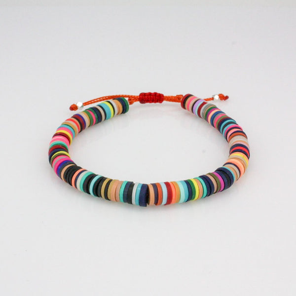 Multi-Colored vinyl adjustable bracelet
