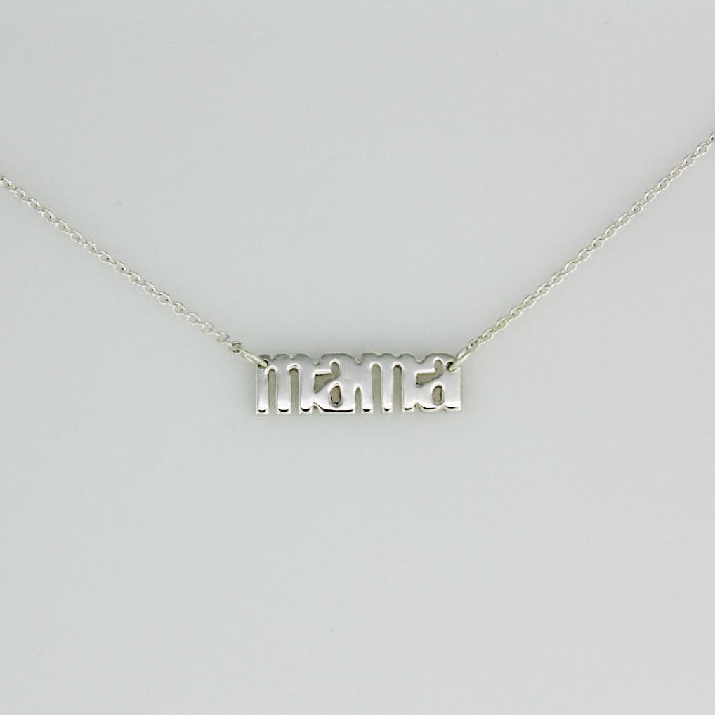 Sterling Silver Mama Pendant