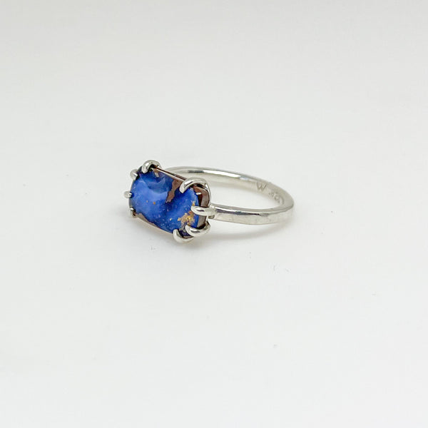 Blue Boulder Opal Stack Ring