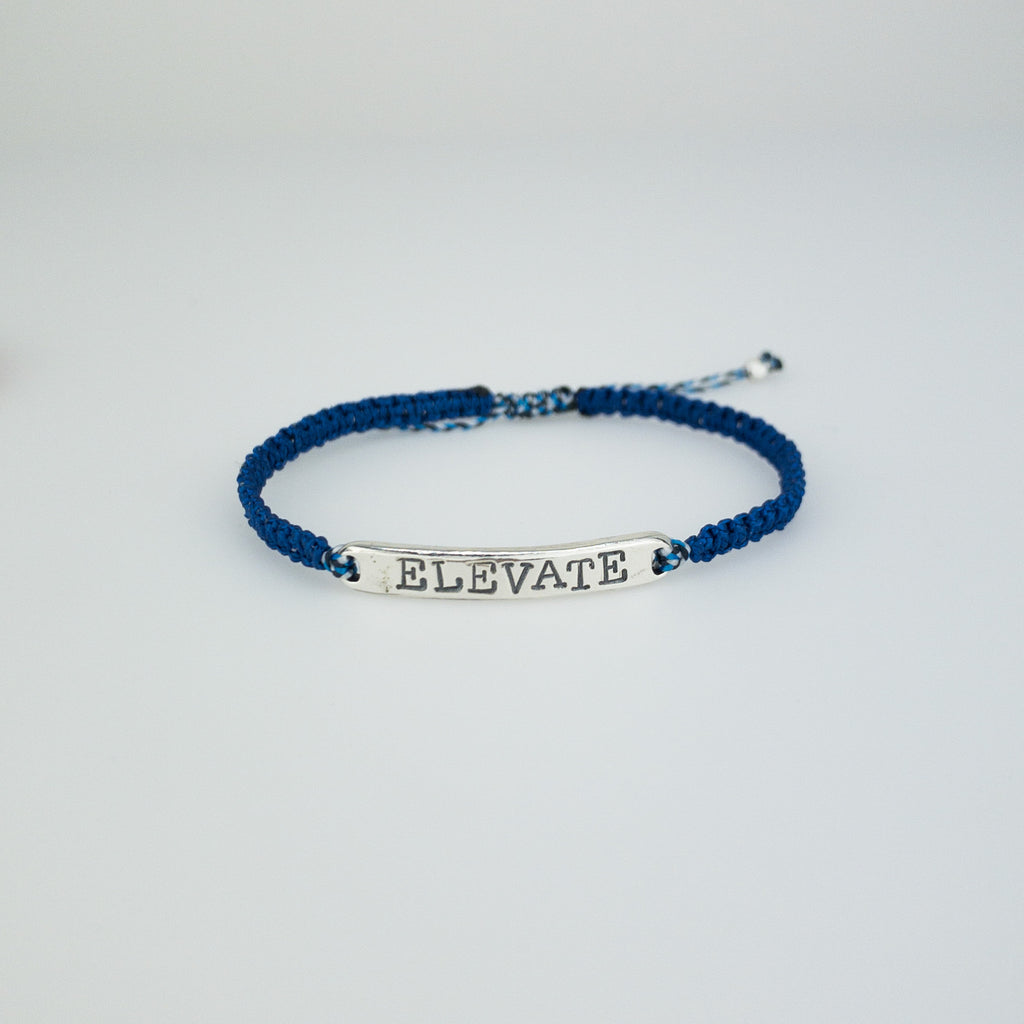 Word of the Year Silver Mantra Bracelet