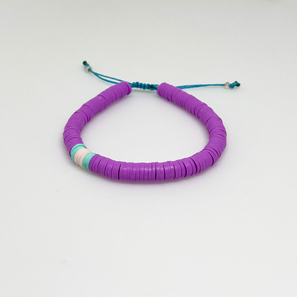 Purple and Light Pink Vinyl Bracelet