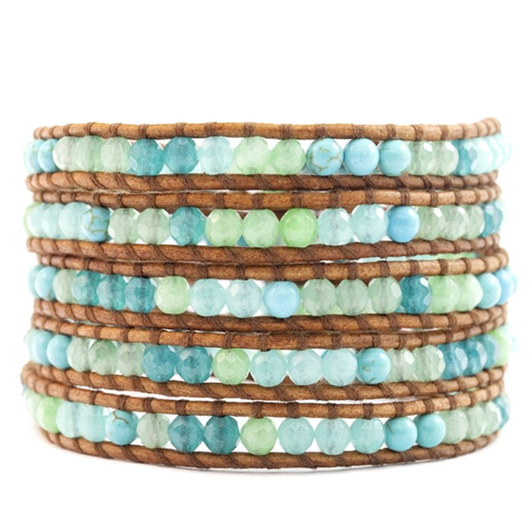 Amazonite Mix Wrap Bracelet