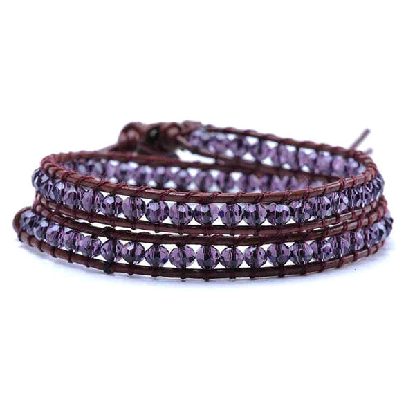 Nature Plum Wrap Bracelet
