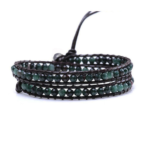 Green Malachite Wrap Bracelet
