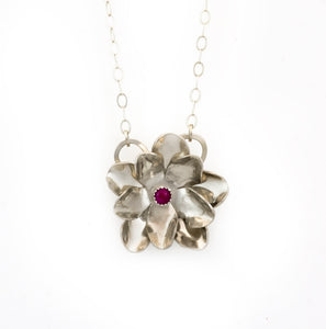 Rose Pendant - Multiple Stone Options