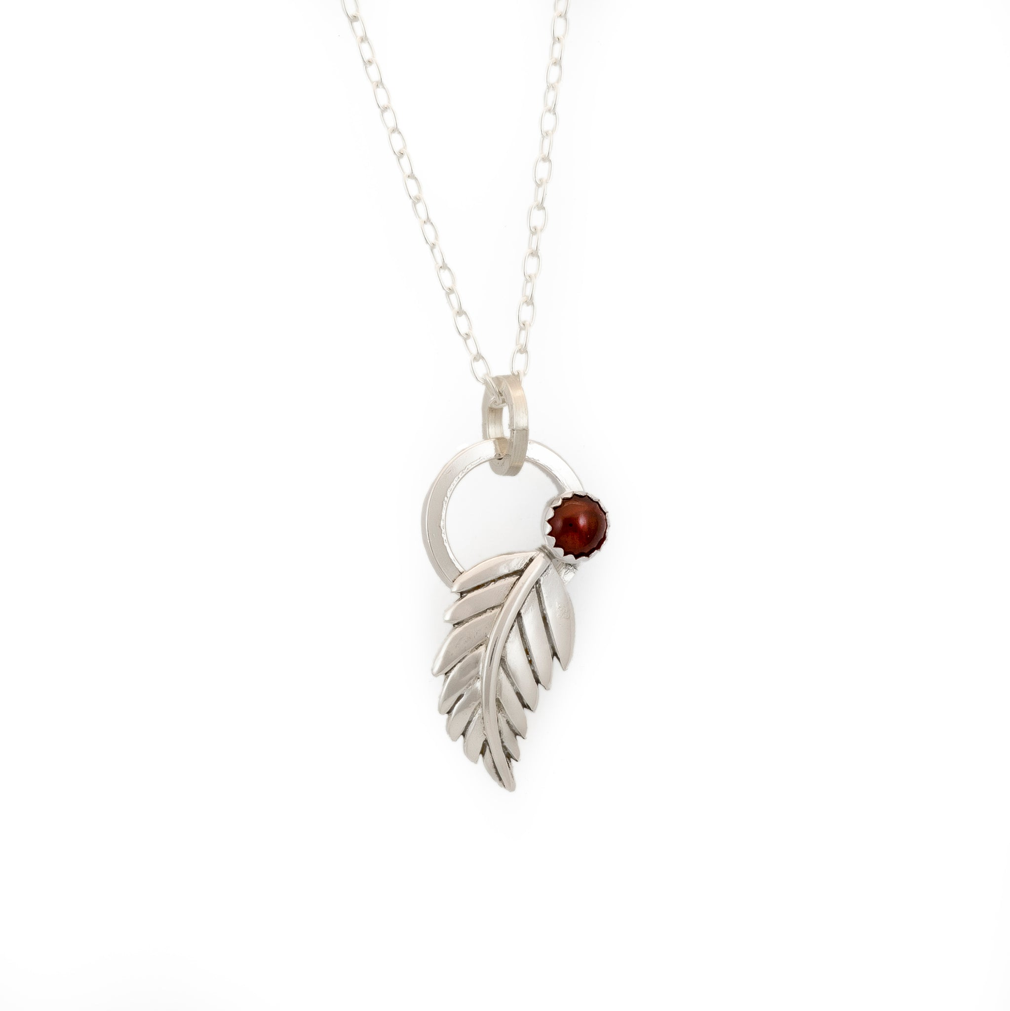Fern Leaf Necklace - Multiple Stone Options
