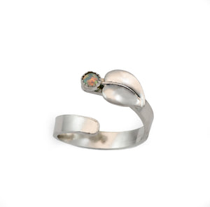 Aspen Leaf Adjustable Rings - Multiple Stone Options
