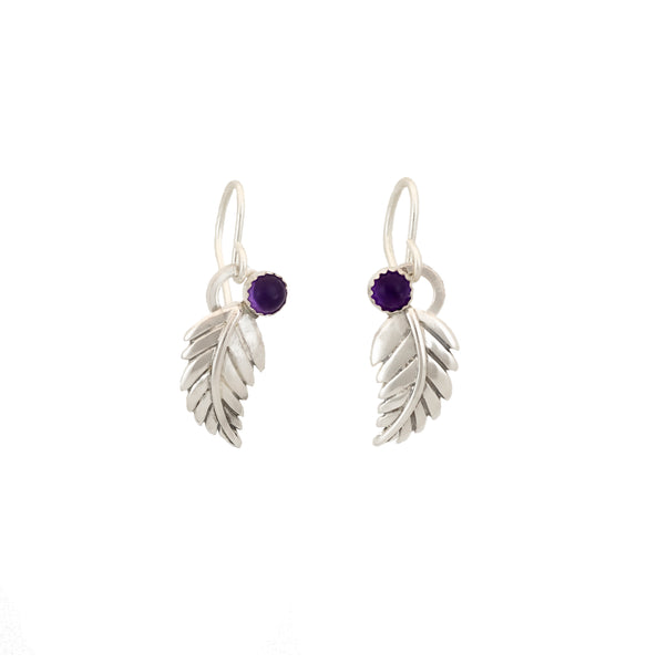 Fern Leaf Earrings - Multiple Stone Options
