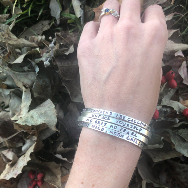 Make Your Own Mantra Cuff - Customizable Mantra Cuff