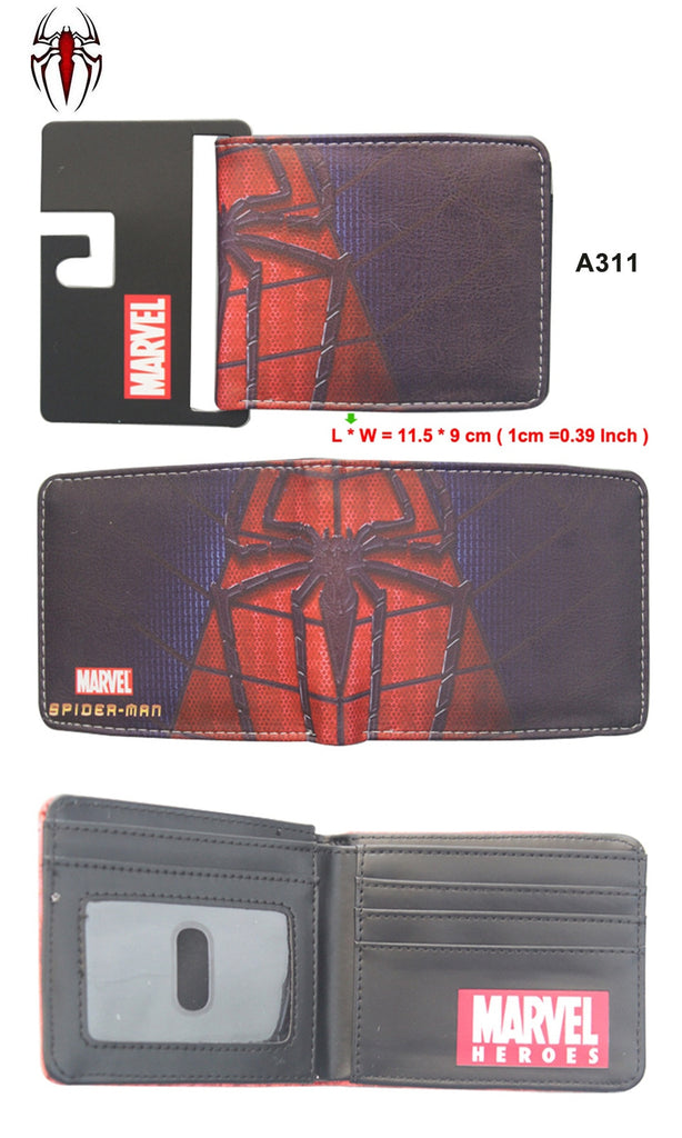 Popular Superhero Anime Wallet The Avengers Hero Spider-Man Wallet Cute Teenager Boy's Spider Spiderman Wallet & Purse Leather