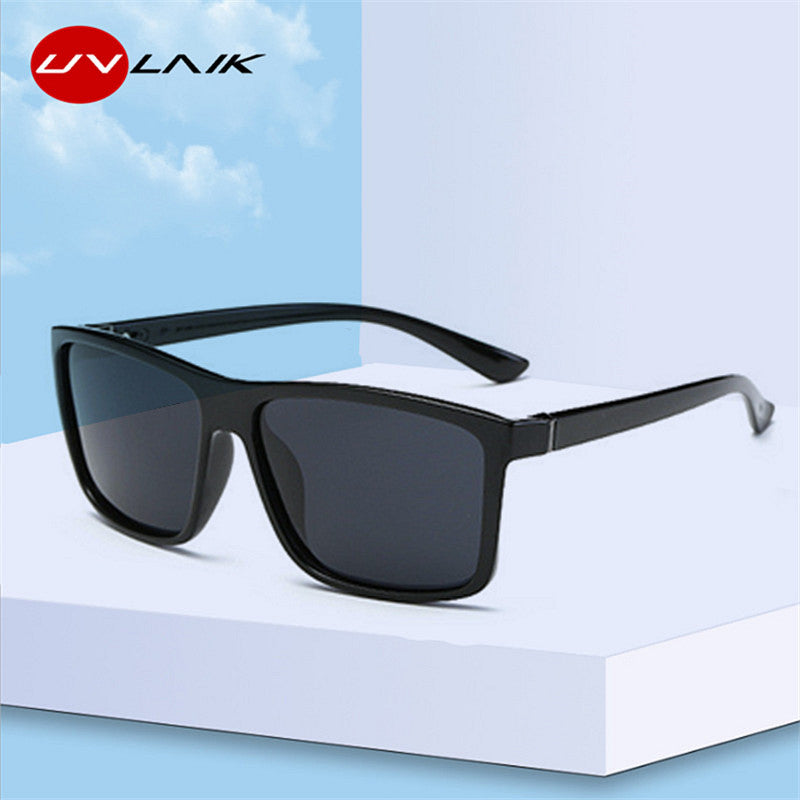 UVLAIK Men Polarized Sunglasses Brand Vintage Square Driving Movement Sun Glasses Men Driver Safety Protect UV400 Eyeglasses