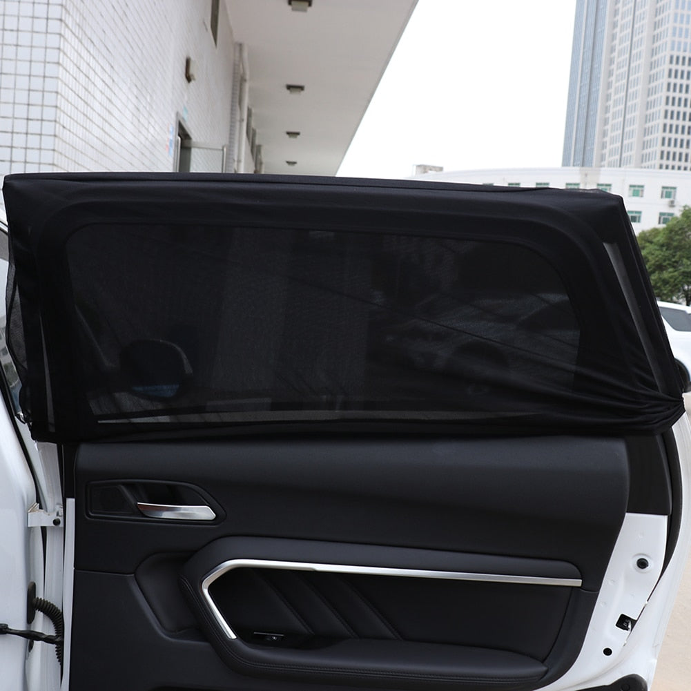 2Pcs Car UV Protection Sun Shade Car Curtain Car Window Sunshade Side Window Mesh Sun Visor Summer Protection Window Film
