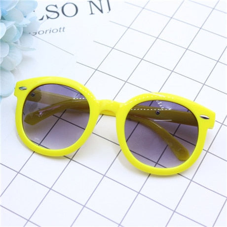 2019 fashion brand children's sunglasses black kids sunglasses UV protection baby sun glasses girls boys glasses