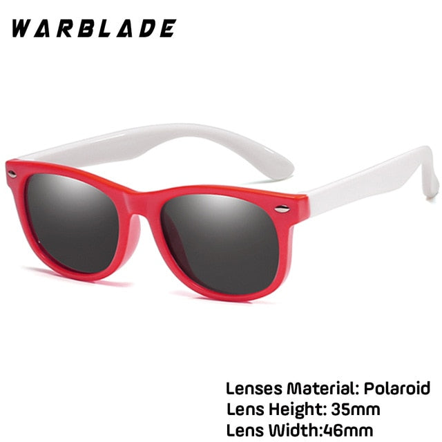 WarBLade Colorful Flexible Kids Sunglasses Polarized Eyewears Children High Quality HD Lens Baby Safety Coating Mirror Shades