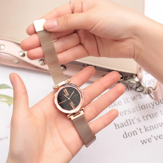 Magnet Strap Watch Women Watches Ladies Dress WristWatch Gift For Girls Luxury Fashion Wrist Quartz Clock Hours relogio feminino
