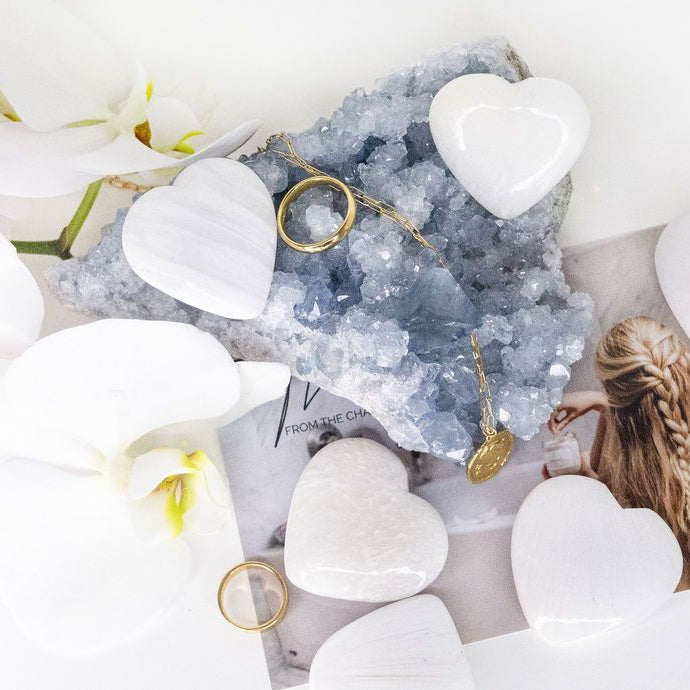 Scolecite Crystal Hearts - Connectivity