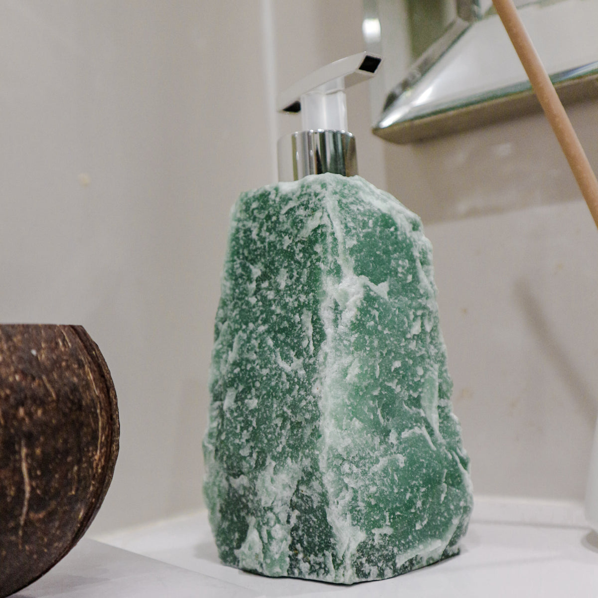 Green Quartz Soap Dispenser