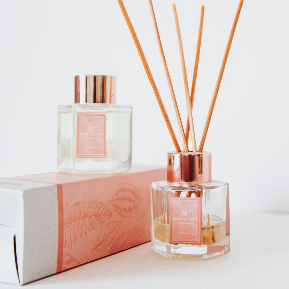 Rose Quartz Jasmine Reed Diffuser