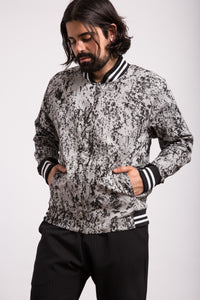 VERY LIMITED EDITION Lava Print Bomber Jacket