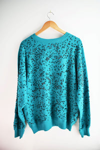 Teal with Black Marinetti Sweatshirt