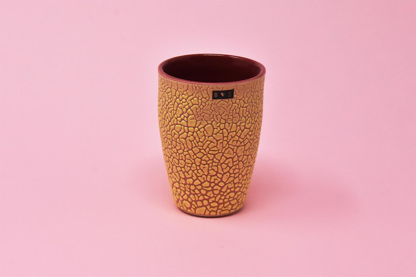 Tumbler Cup - Burnt Orange with Black Tag