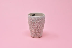 Tumbler Cup - White Crawl with Black Tag 2