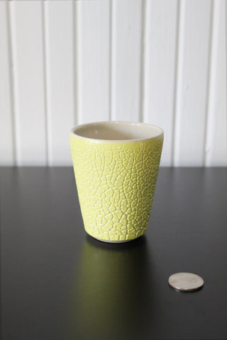 Yellow Crawl Cup - White
