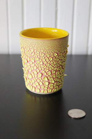 Yellow Crawl Cup - Pink