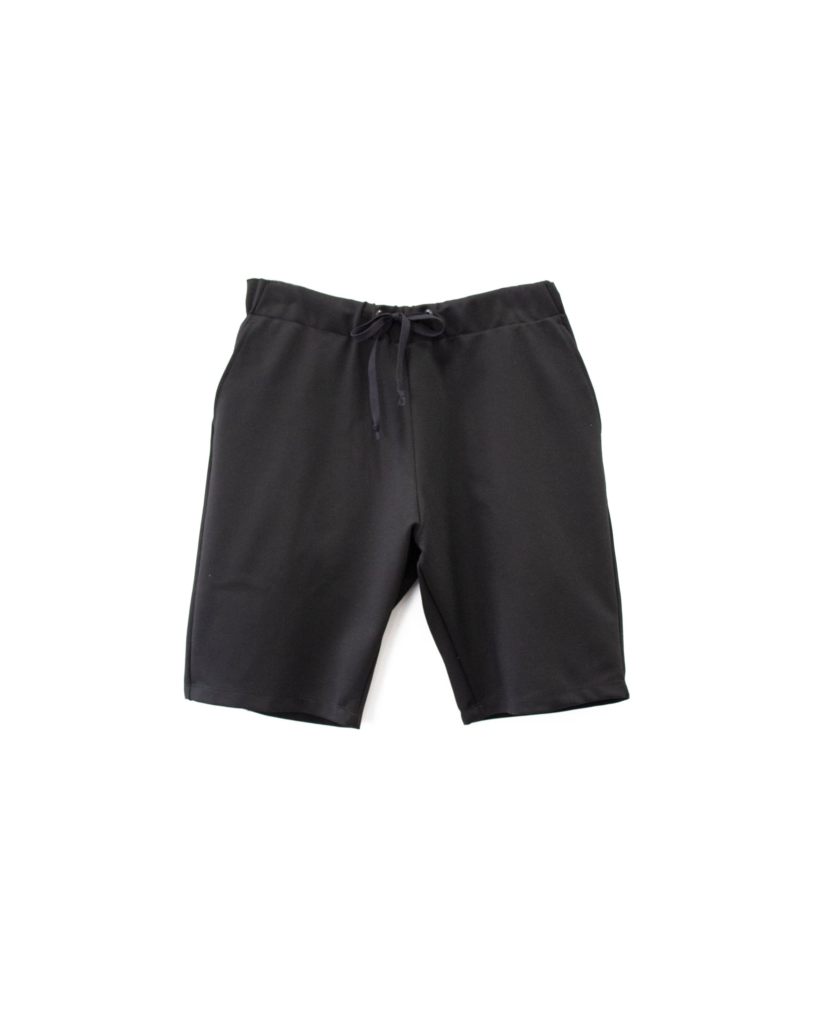 Solid Black Ponte Shorts