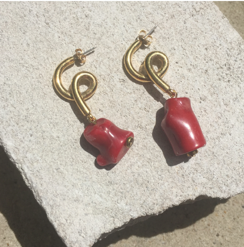 Butan - Spiral Coral Earrings