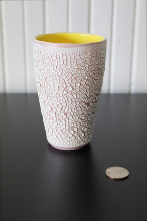 White Crawl Cup - Mauve